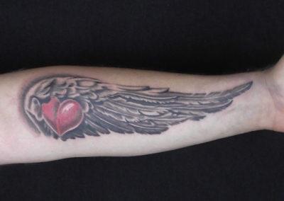 Tattoo Flügel Herz