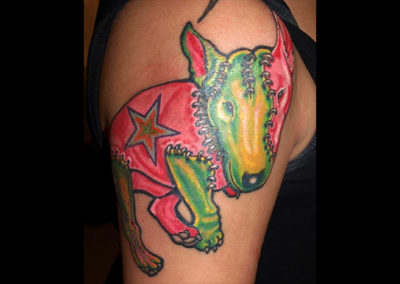 Tattoo Bullterrier Frankenstein