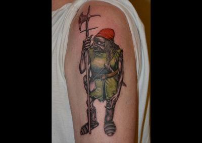 Tattoo Goblin Helebarde
