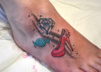 Tattoo Diamant Highheel
