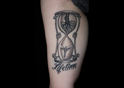 Tattoo Stundenglas Lifetime