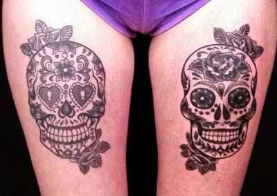 Tattoo Totenkopf Rosen